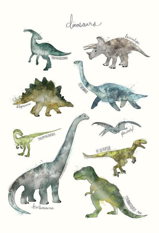 Dinosaurs Plakat af akrylglas