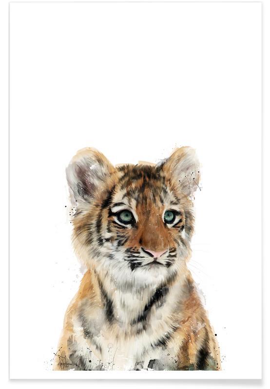Børneværelse & kunst for børn, Tigre, Little Tiger Illustration Plakat