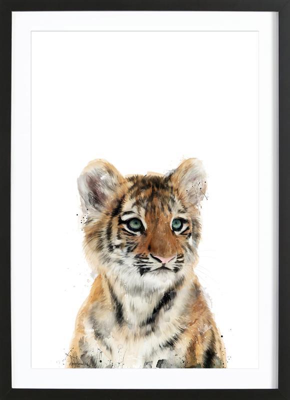 Little Tiger affiche sous cadre en bois