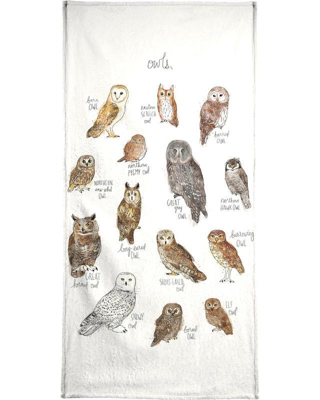 Owls serviette de bain