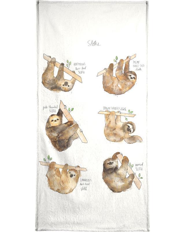 Paresseux, Art pour enfants, Sloths serviette de bain