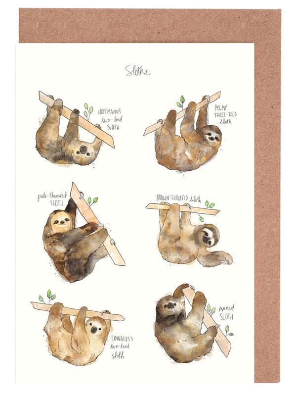 Sloths cartes de vœux