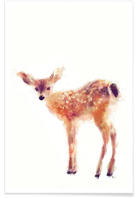 Fawn Illustration Poster