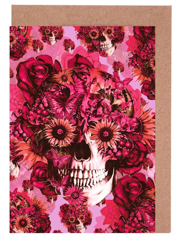 Skulls, Girly by Nature Greeting Card Set