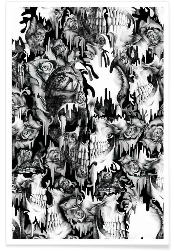 Noir & blanc, Crânes, Gone in a Splash affiche