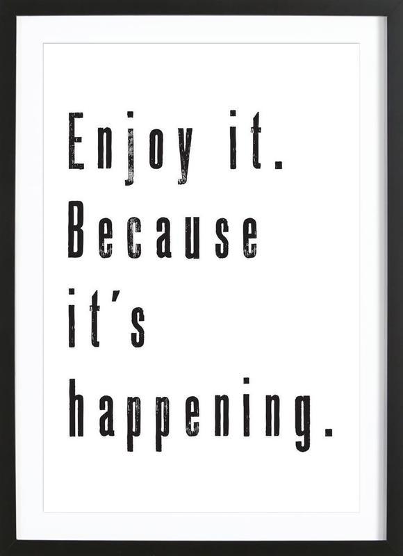 Enjoy it affiche sous cadre en bois