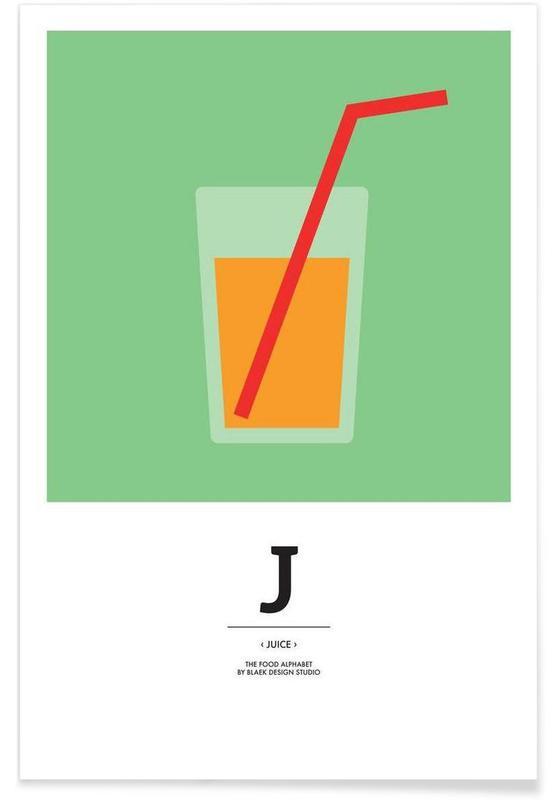 ", ""The Food Alphabet"" - J like Juice affiche"