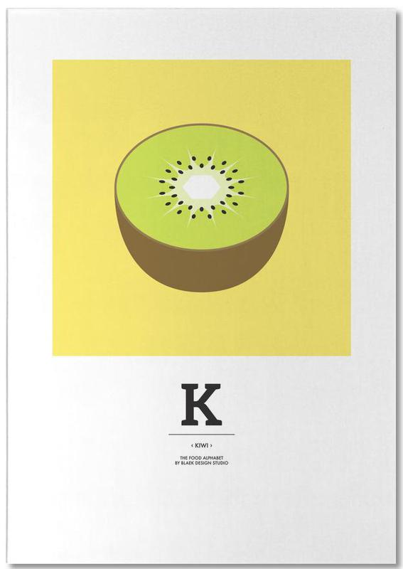 """The Food Alphabet"" - K like Kiwi Notepad"
