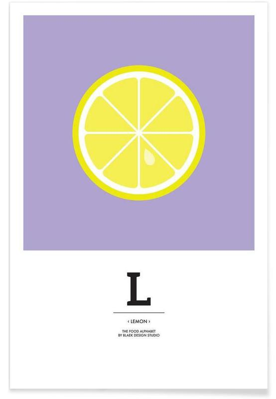 """The Food Alphabet"" - L like Lemon affiche"