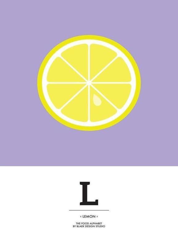 """The Food Alphabet"" - L like Lemon -Leinwandbild"