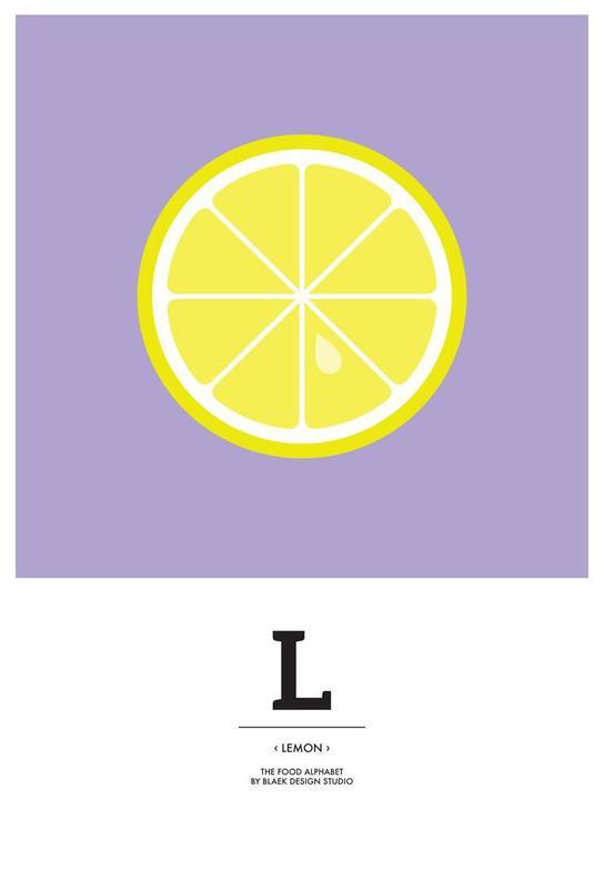 """The Food Alphabet"" - L like Lemon alu dibond"