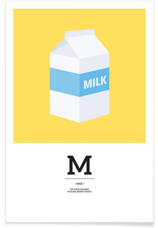 """The Food Alphabet"" - M like Milk poster"