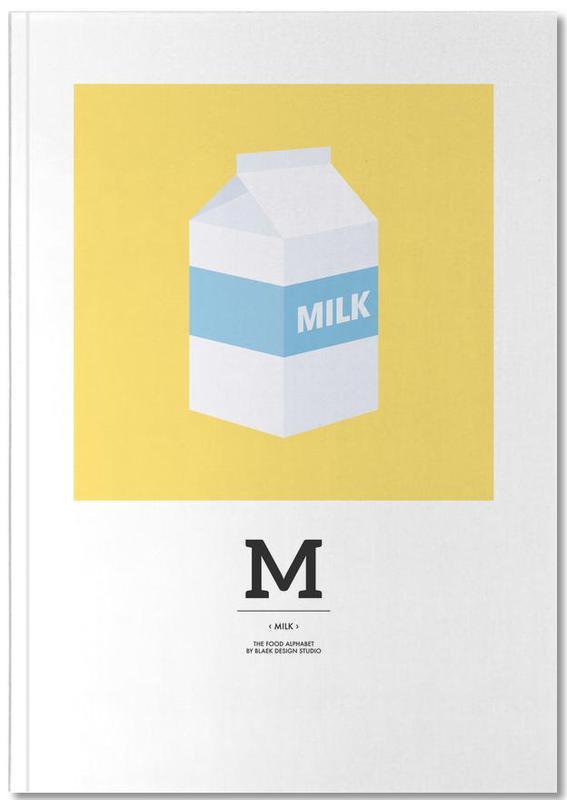 ", ""The Food Alphabet"" - M like Milk Notebook"