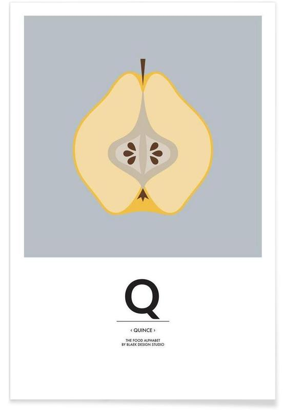 """, """"The Food Alphabet"""" - Q like Quince affiche"""