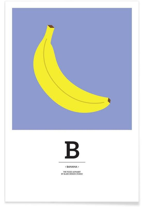 """The Food Alphabet"" - B like Banana Poster"