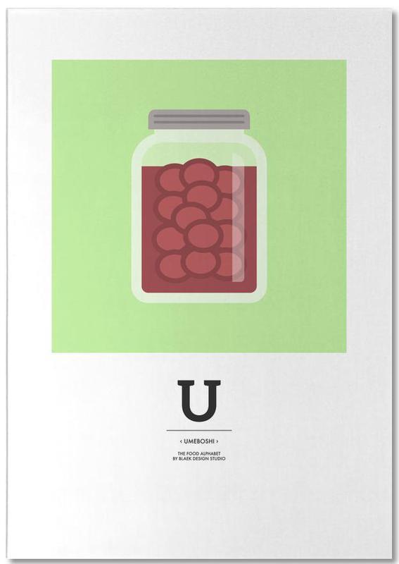 """""""The Food Alphabet"""" - U like Umeboshi bloc-notes"""
