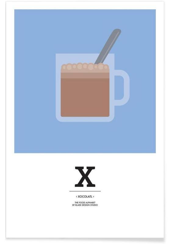 ", ""The Food Alphabet"" - X like Xocolatl affiche"