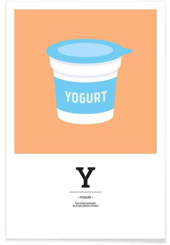 """The Food Alphabet"" - Y like Yogurt Poster"