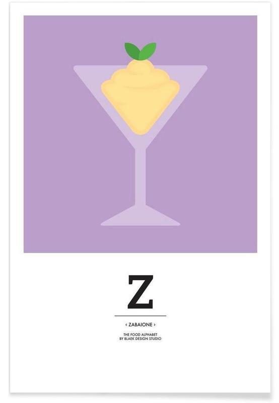 """The Food Alphabet"" - Z like Zabaione affiche"