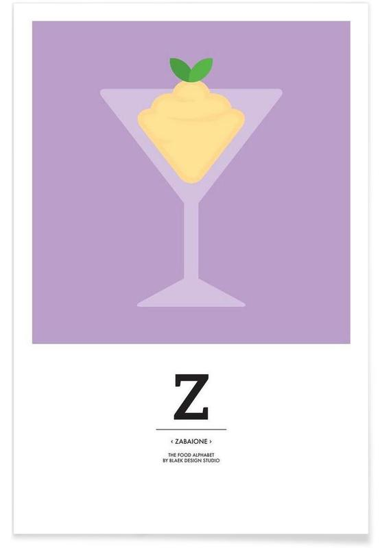 """The Food Alphabet"" - Z like Zabaione Poster"
