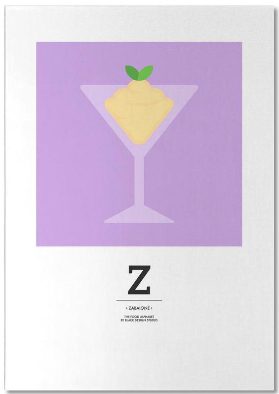 """The Food Alphabet"" - Z like Zabaione bloc-notes"