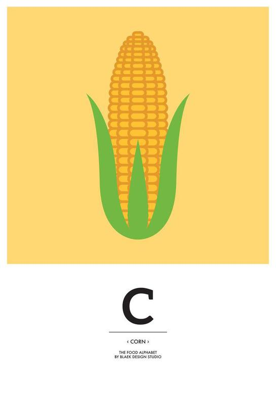 """The Food Alphabet"" - C like Corn -Acrylglasbild"