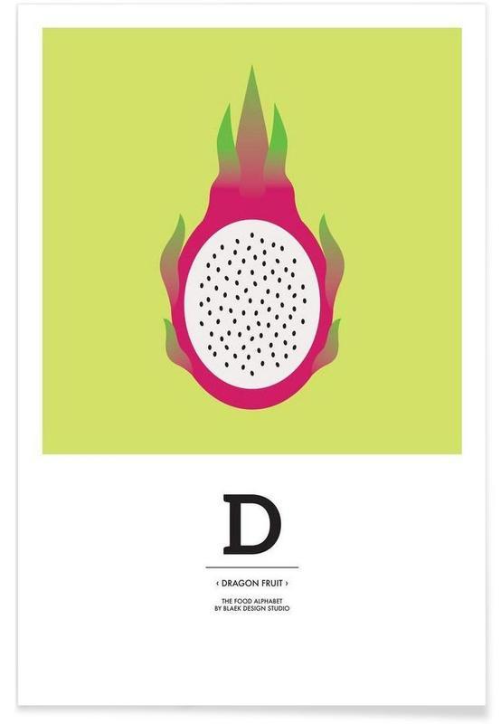 ", ""The Food Alphabet"" - D like Dragon Fruit affiche"