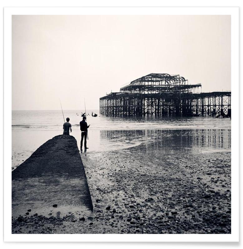 Zwart en wit, Brighton West Pier poster