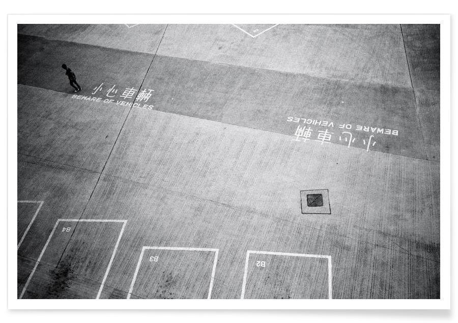 Noir & blanc, HK Parking 1 affiche