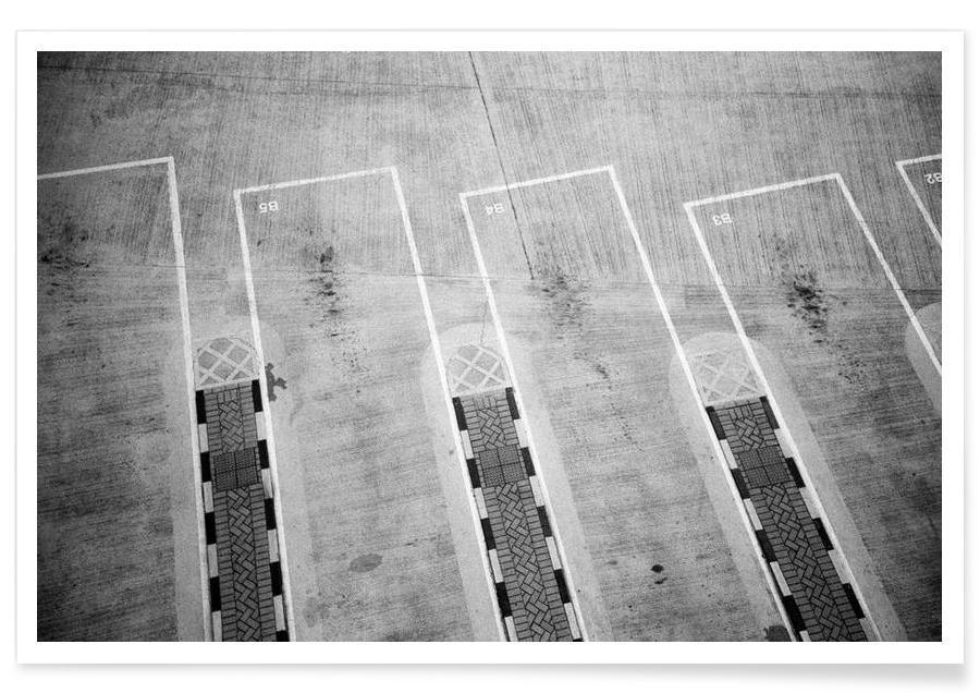 Noir & blanc, HK Parking 2 affiche
