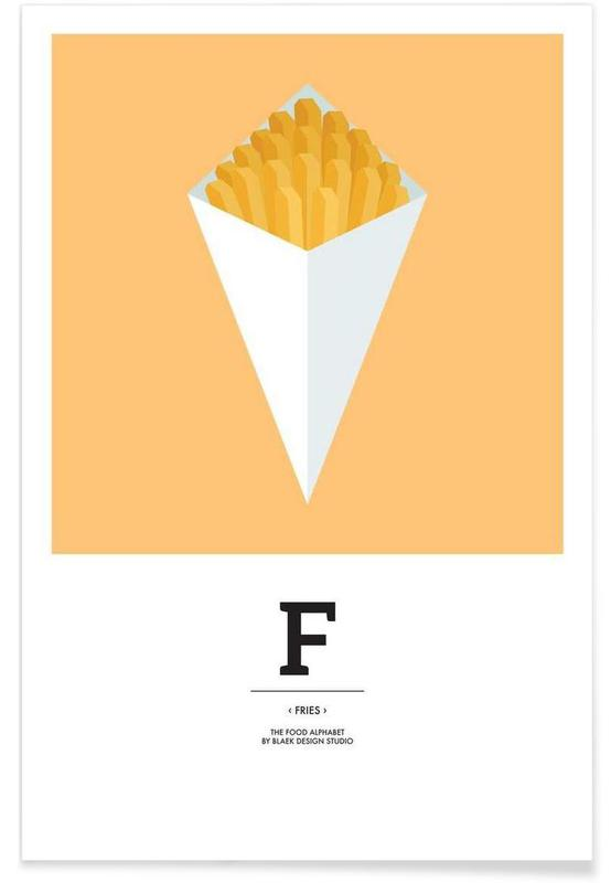 """The Food Alphabet"" - F like Fries -Poster"