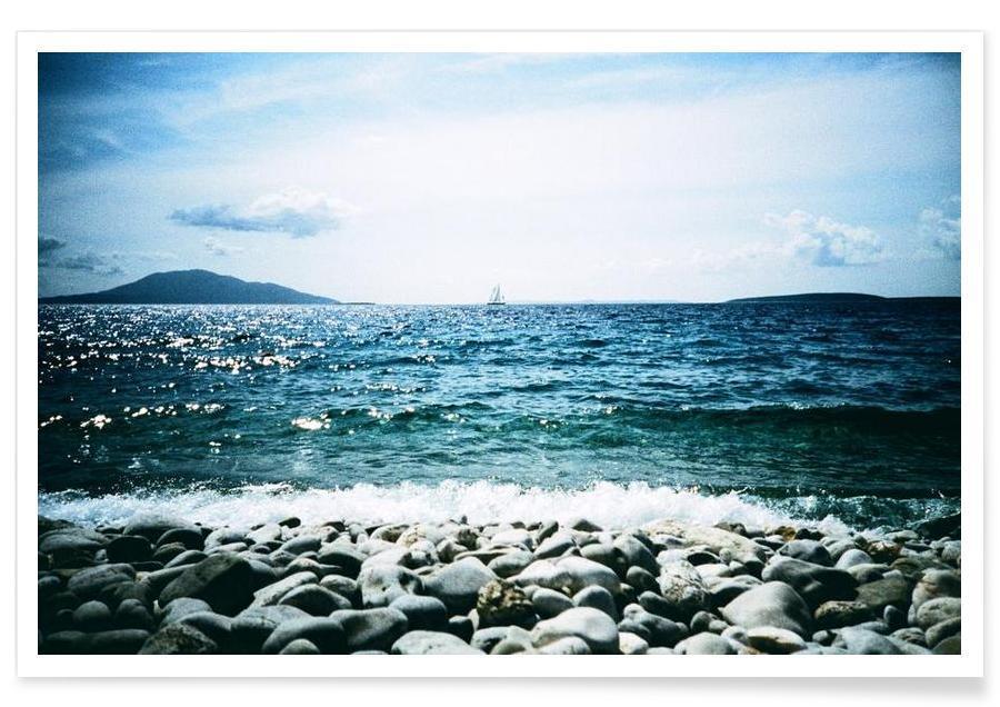 Oceanen, zeeën en meren, Wavy poster