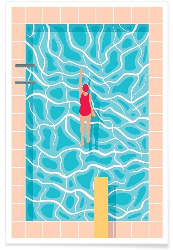 Natation, Pool affiche