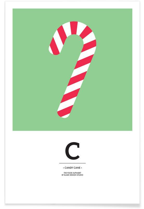 Jul, Food Alphabet Xmas Edition C Plakat