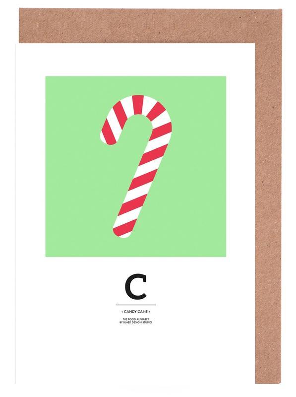 Weihnachten, Food Alphabet Xmas Edition C -Grußkarten-Set