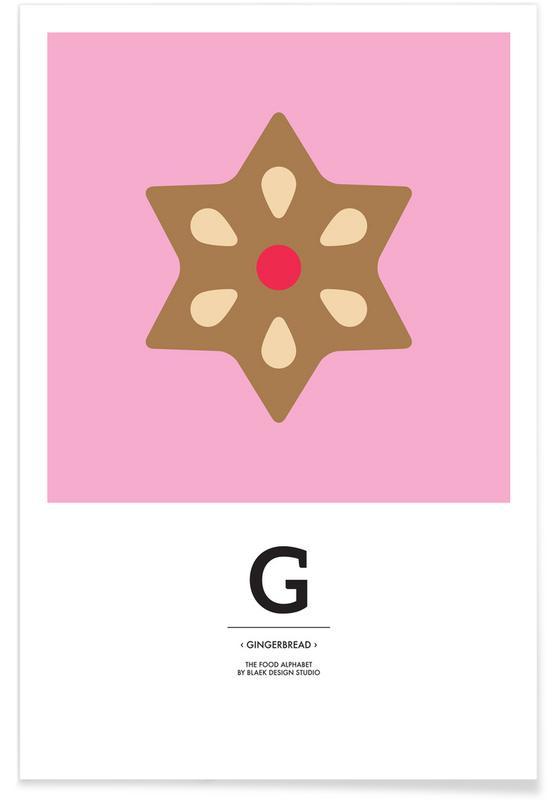 Noël, Food Alphabet Xmas Edition G affiche