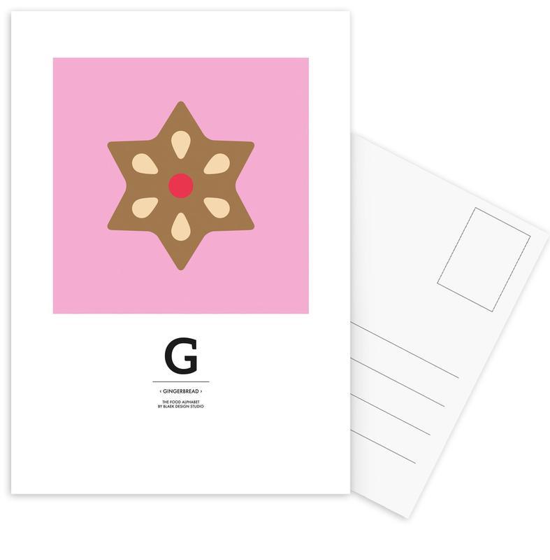 Kerst, Food Alphabet Xmas Edition G ansichtkaartenset