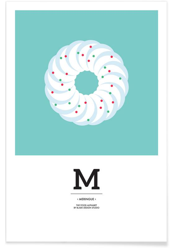 Food Alphabet Xmas Edition M Poster