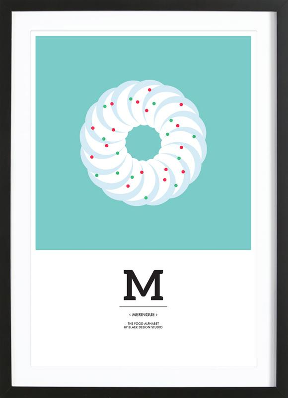 Food Alphabet Xmas Edition M ingelijste print