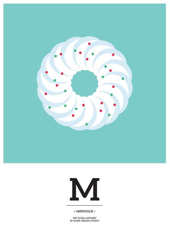 Food Alphabet Xmas Edition M acrylglas print
