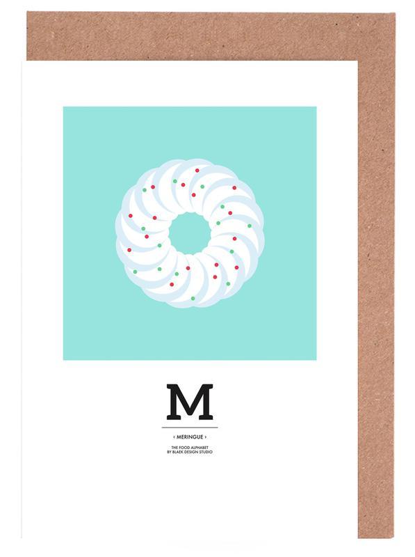 , Food Alphabet Xmas Edition M -Grußkarten-Set