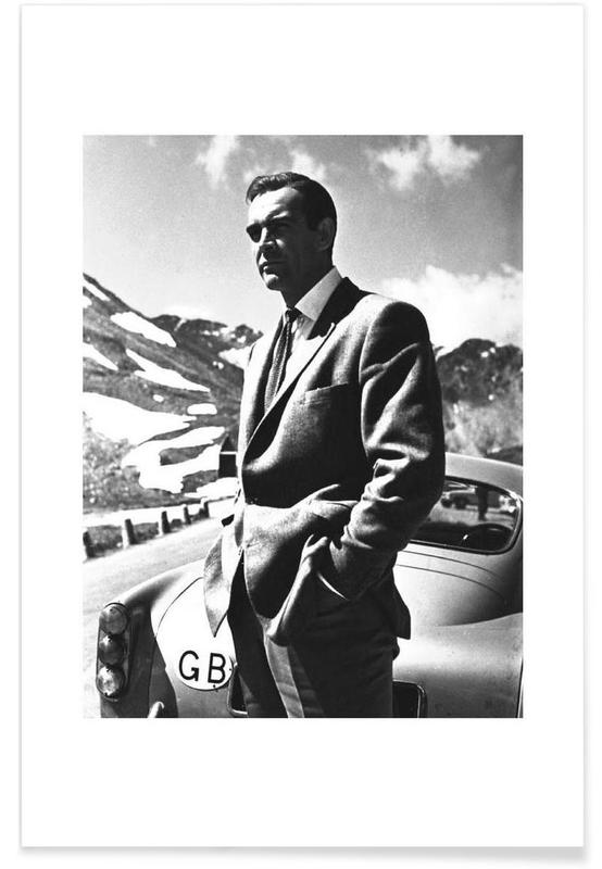 Sean Connery Goldfinger 1964 Vintage Photograph Poster