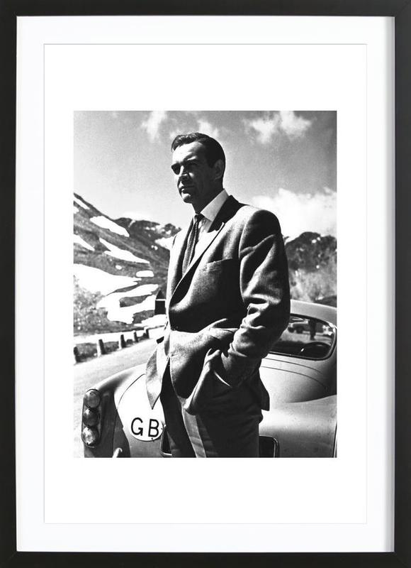 """Sean Connery """"Goldfinger"""" 1964 -Bild mit Holzrahmen"""