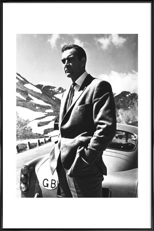 """Sean Connery """"Goldfinger"""" 1964 -Bild mit Kunststoffrahmen"""