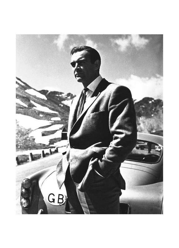"Sean Connery ""Goldfinger"" 1964 Canvastavla"