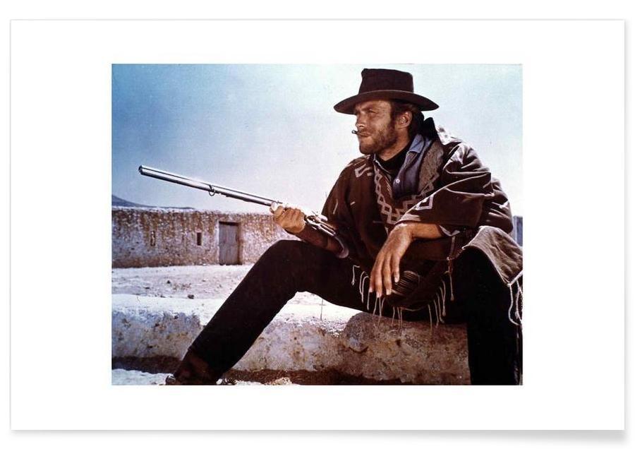 Clint Eastwood, Film, Clint Eastwood Vintage Photograph Plakat