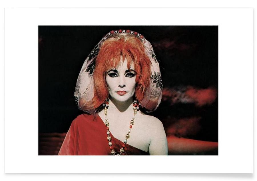 , Foto van Elizabeth Taylor in dokter Faustus, 1967 poster