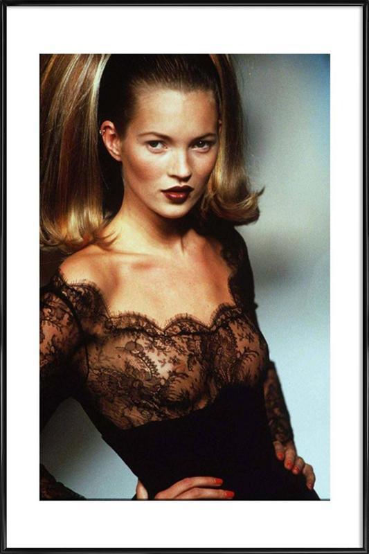 Kate Moss affiche encadrée