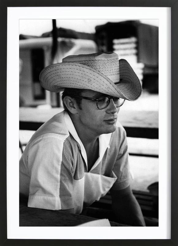 James Dean with Cowboy Hat Framed Print