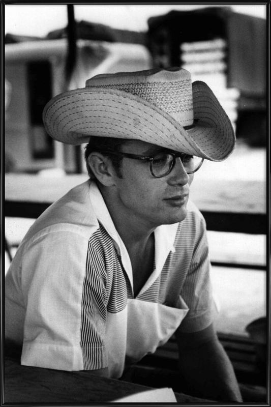 James Dean with Cowboy Hat Framed Poster